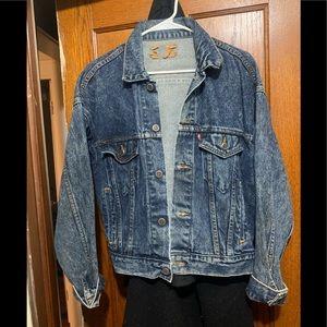 Blue jean denim jacket